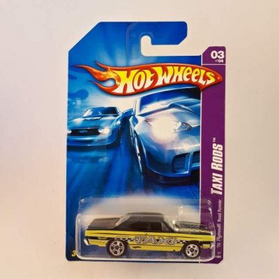 HOTWHEELS '07 70 PLYMOUTH ROAD RUNNER TAXI RODS