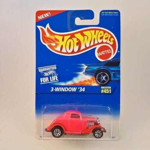 HOTWHEELS 3-WINDOW '34