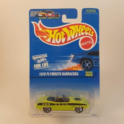 HOTWHEELS 1970 PLYMOUTH BARRACUDA #523