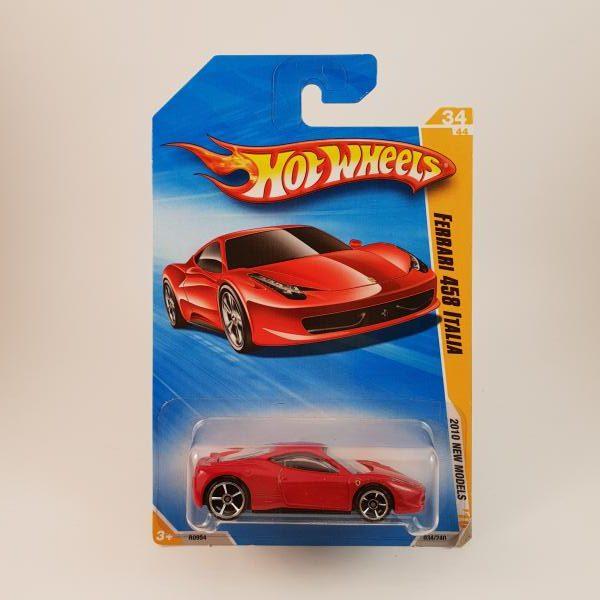 hotwheels ferrari 458 italia #034 - hot wheels & diecast