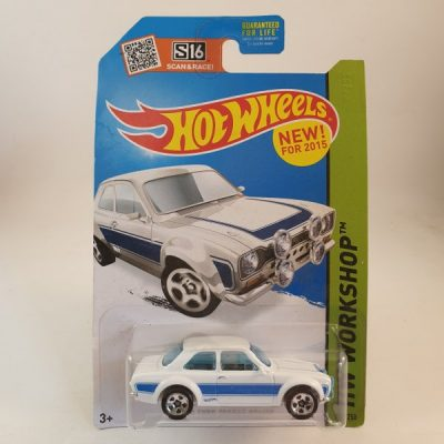HOT WHEELS '70 FORD ESCORT RS 1600 WHITE