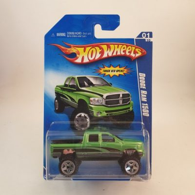 HOT WHEELS DODGE RAM 1500 GREEN