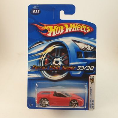 HOT WHEELS FERRARI F430 SPIDER RED #033