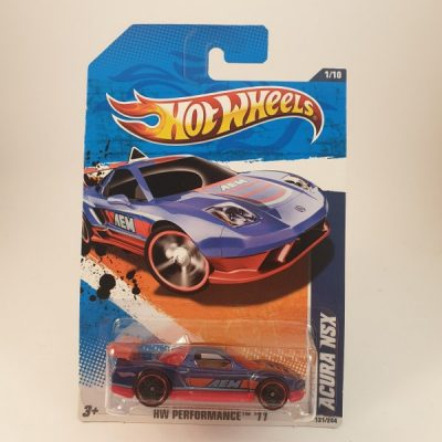 HOT WHEELS ACURA NSX BLUE