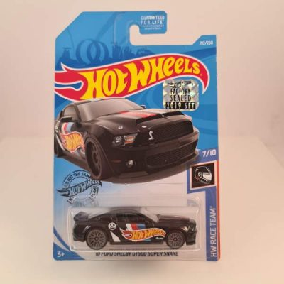 HOT WHEELS '10 FORD SHELBY GT 500 SUPER SNAKE BLACK