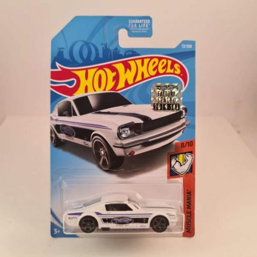 HOT WHEELS '65 MUSTANG 2+2 FASTBACK WHITE