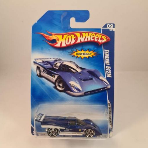 HOT WHEELS FERRARI 512M BLUE